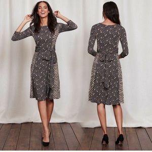 Boden | Anna Wrap Dress Mixed Print Floral